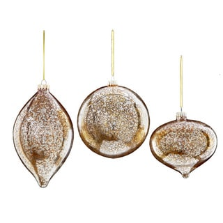 Sage & Co Sage & Co. 5-inch Mercury Glass Christmas Ornament (Assortment of 3, pack of 6)