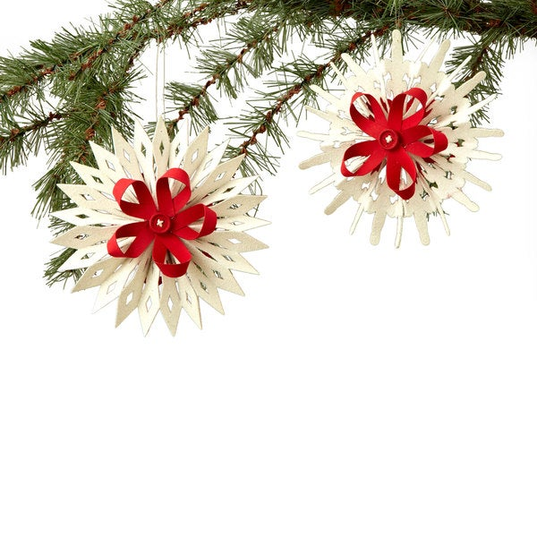 Sage & Co Sage & Co. 6-inch 2-design Paper Cut-out Ornament (Pack of 6)