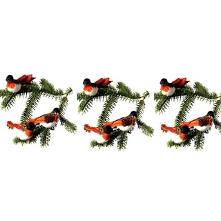 Sage & Co Sage & Co. 6-inch Pheasant Bird Clip-on Ornaments (Pack of 6)