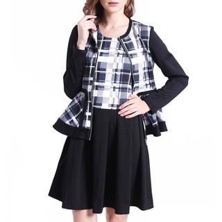 Mossée Women's Black Tartan Jacket