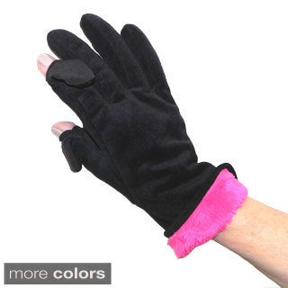 Freehands Velour Texting Gloves