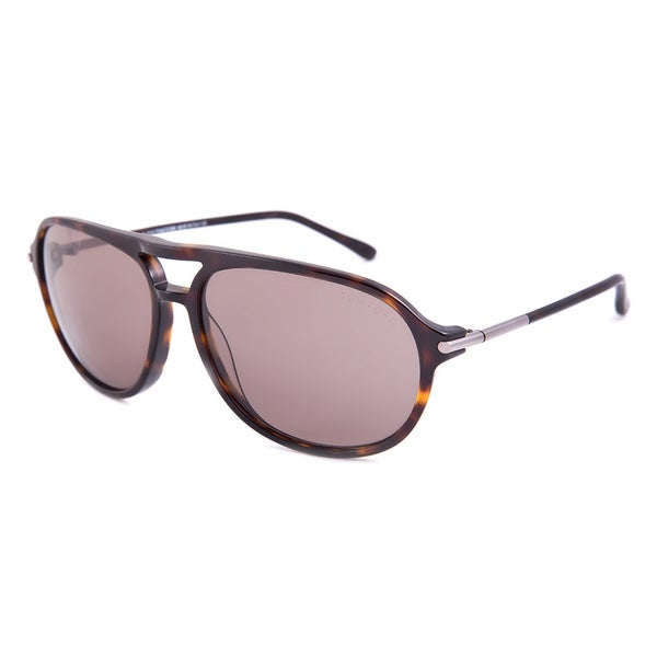 Tom Ford TF255 52J John Dark Tortoise Aviator Sunglasses