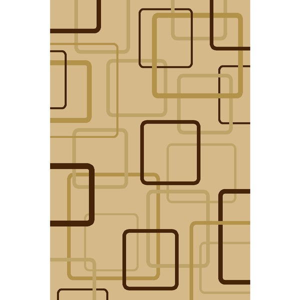 "Somette Interlude Portico 030 Circuitry Ivory Area Rug (2' x 7'7"")"