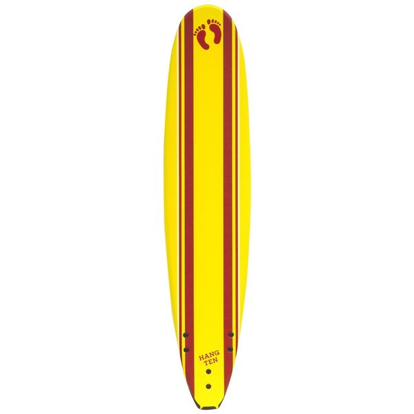 Hang Ten 9-foot Sunset Yellow Soft Top Surfboard