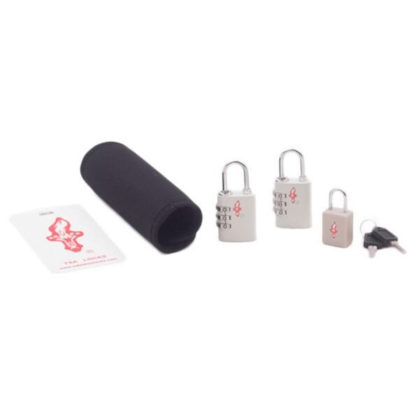 Safe Skies White TSA Luggage Lock/ Tag/ Grip Set