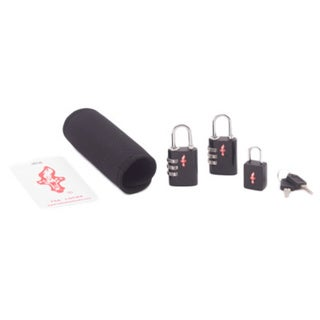 Safe Skies Black TSA Luggage Lock, Tag and Grip Set