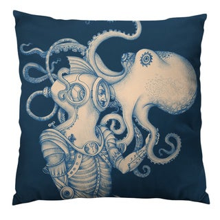 Deep Sea Discovery Throw Pillow