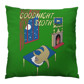 Goodnight Sloth Throw Pillow