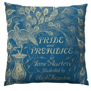 Pride and Prejudice, Jane Austen Throw Pillow