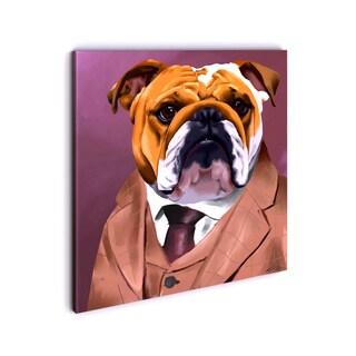 iCanvas Brian Rubenacker Bull Dog 2 003 Canvas Print Wall Art