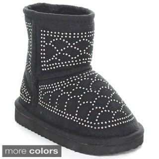 Rck Bella Guru-33I Infant Baby Girl's Rhinestone Snow Boots