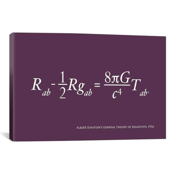 iCanvas Michael Thompsett Einstein's Theory of Relativity Canvas Print Wall Art