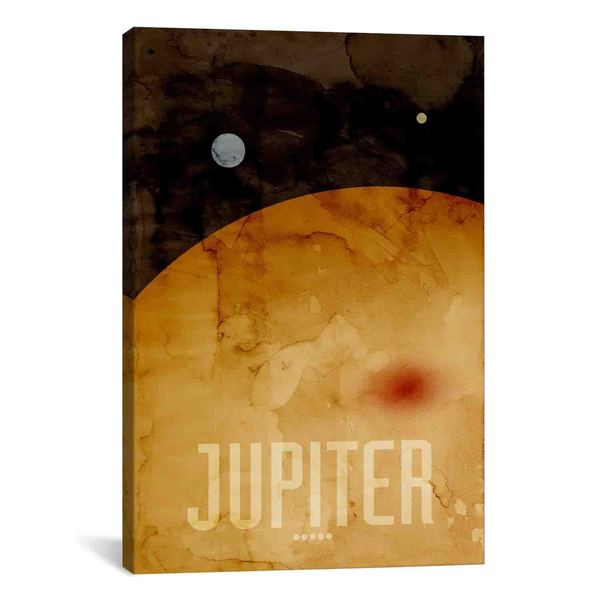 iCanvas Michael Thompsett The Planet Jupiter Canvas Print Wall Art