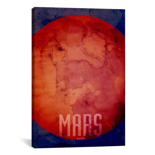 iCanvas Michael Thompsett The Planet Mars Canvas Print Wall Art