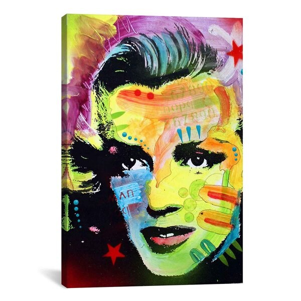 iCanvas Dean Russo Marilyn Monroe I Canvas Print Wall Art