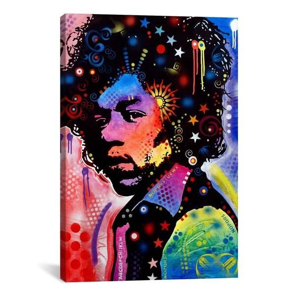 iCanvas Dean Russo Jimi Hendrix IV Canvas Print Wall Art