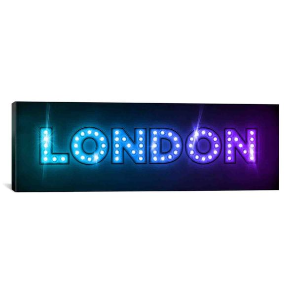 iCanvas Michael Thompsett London in Lights Canvas Print Wall Art