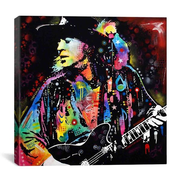 iCanvas Dean Russo Stevie Ray Vaughan Canvas Print Wall Art 14352946