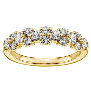 14k or 18k Yellow Gold 1ct TDW Diamond Garland Wedding Band (F-G, SI1-SI2)