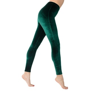 American Apparel Women's Stretch Velvet Leggings