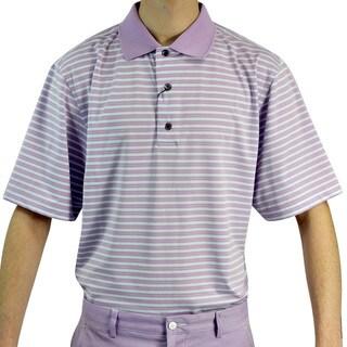 FootJoy Men's Stripe Lisle Pique Golf Polo Shirt