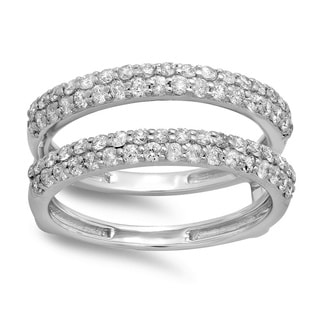 14k White Gold 1ct TDW Round-cut Diamond Anniversary Wedding Ring (H-I, I1-I2)