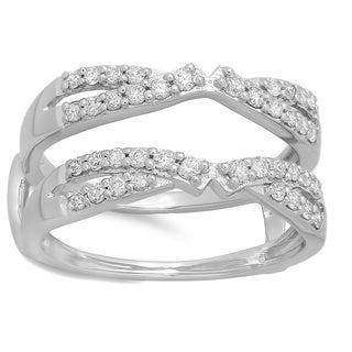 14k White Gold 1/2ct TDW Round Diamond Anniversary Wedding Ring (H-I, I1-I2)