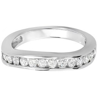 14k White Gold 3/5ct TDW Round Diamond Anniversary Ring (H-I, I1-I2)