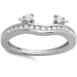 14k White Gold 2/5ct TDW Round-cut Diamond Enhancer Ring (H-I, I1-I2)