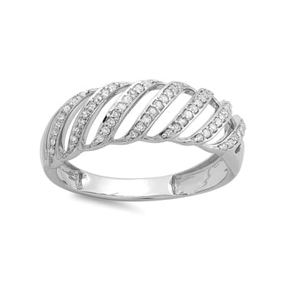 Sterling Silver 1/3ct TDW Round Diamond Cocktail Band Ring (H-I, I1-I2)