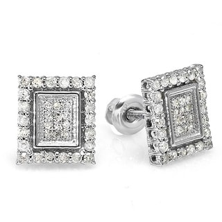 Sterling Silver 1/2ct TDW Diamond Earrings (H-I, I1-I2)