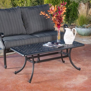 Christopher Knight Home Carnegie Outdoor Cast Coffee Table