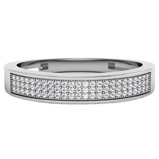 10k White Gold 1/4ct TDW Brilliant Round Diamond Anniversary Wedding Ring (H-I, I1-I2)