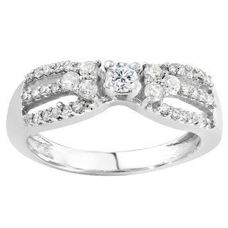 14k White Gold 3/5ct TDW Round Diamond Engagement Ring (H-I, I1-I2)