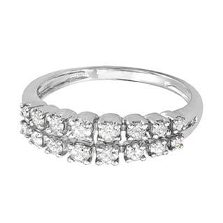 14k White Gold 1/2ct TDW Round White Diamond Anniversary Wedding Ring (H-I, I1-I2)