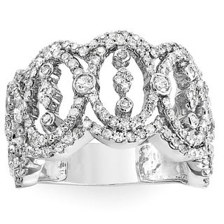 14k White Gold 1 5/8ct TDW Diamond Pave Anniversary Band (H-I, I1-I2)