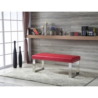 Royal Comfort Eden Modern Red Faux Leather Bench