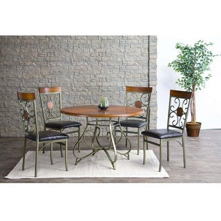 Baxton Studio Novara Wood and Metal Contemporary Dining Table