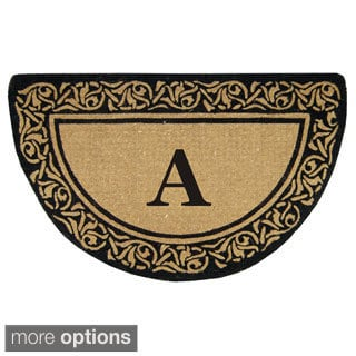 Heavy Duty Coir Decorative Bella Border Monogrammed Doormat