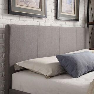 Full Size Grey Linen Headboard