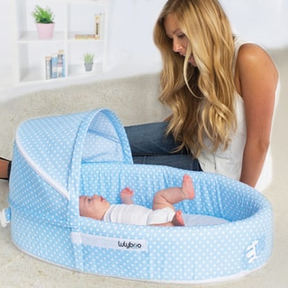 Lulyboo Blue Travel Baby Lounger