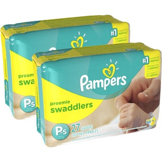 Pampers Preemie Swaddlers Diapers (Pack of 2)