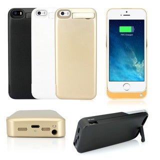 Gearonic 4200mAh Battery Backup Charger Case Cover for iPhone 5 5S