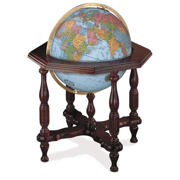 Statesman Blue Large Illuminated Floor Globe