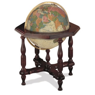 Statesman Antique Large Illuminated Floor Globe