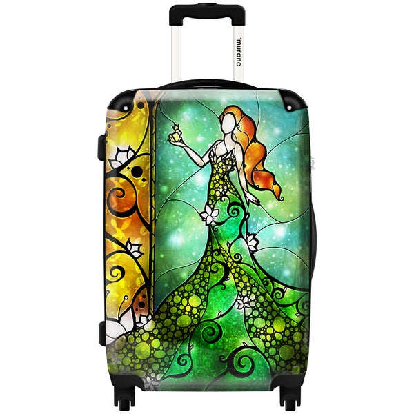 Murano by iKase Ivy Mermaid Art 24-inch Hardside Spinner Upright Suitcase