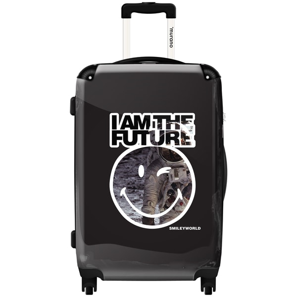 Murano by iKase I am the Future by Smiley 24-inch Hardside Spinner Upright Suitcase