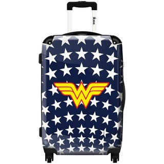 iKase Wonder Woman Stars 24-inch Hardside Spinner Upright Suitcase