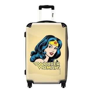 Murano by iKase Wonder Woman Art 24-inch Hardside Spinner Upright Suitcase