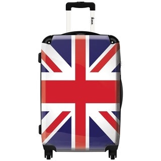 Murano by iKase London Flag 24-inch Hardside Spinner Upright Suitcase
